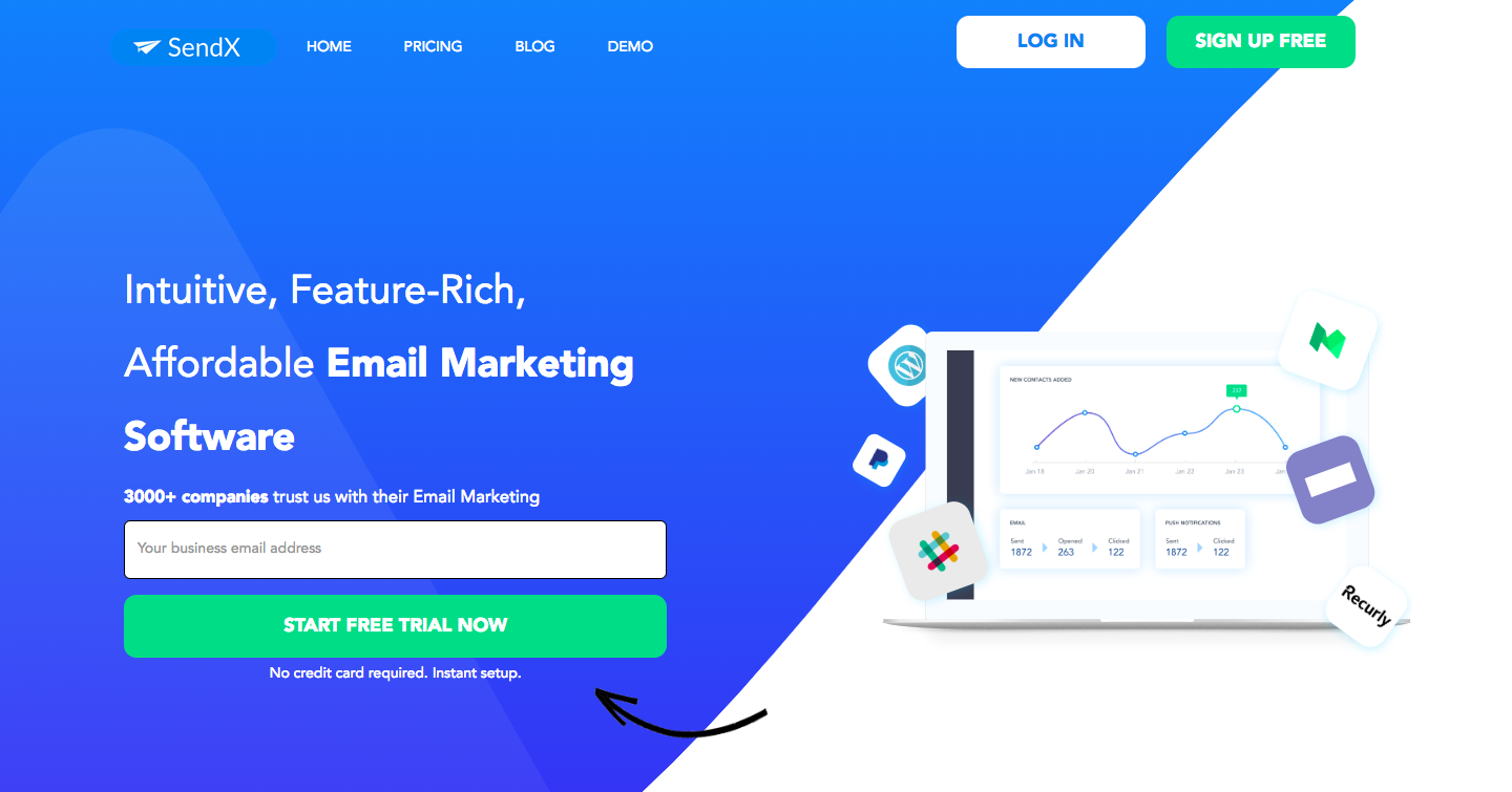 SendX Demo - Intuitive, Feature-Rich, Affordable Email Marketing Software