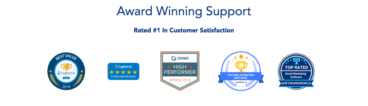 SendX Demo - Award Winning Support