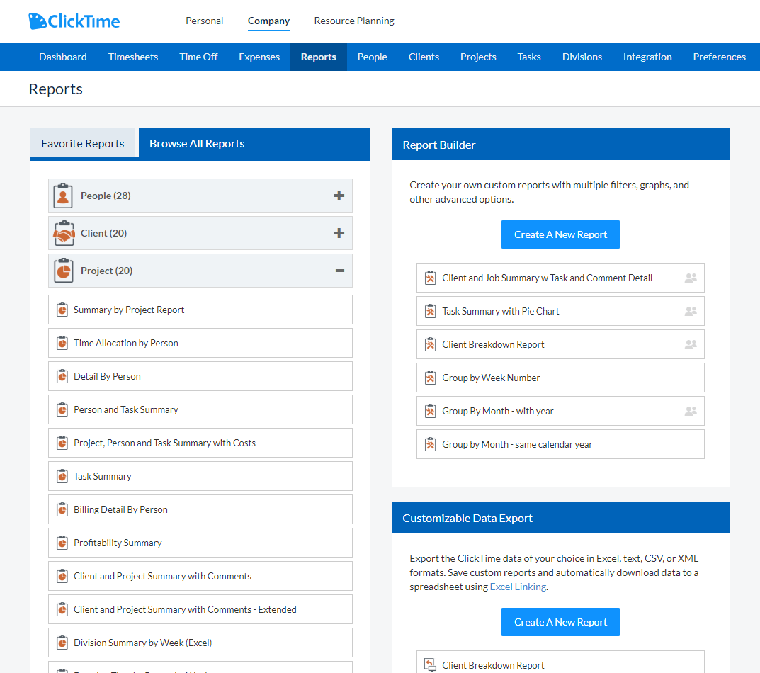 ClickTime Demo - ClickTime Time Tracking Report!