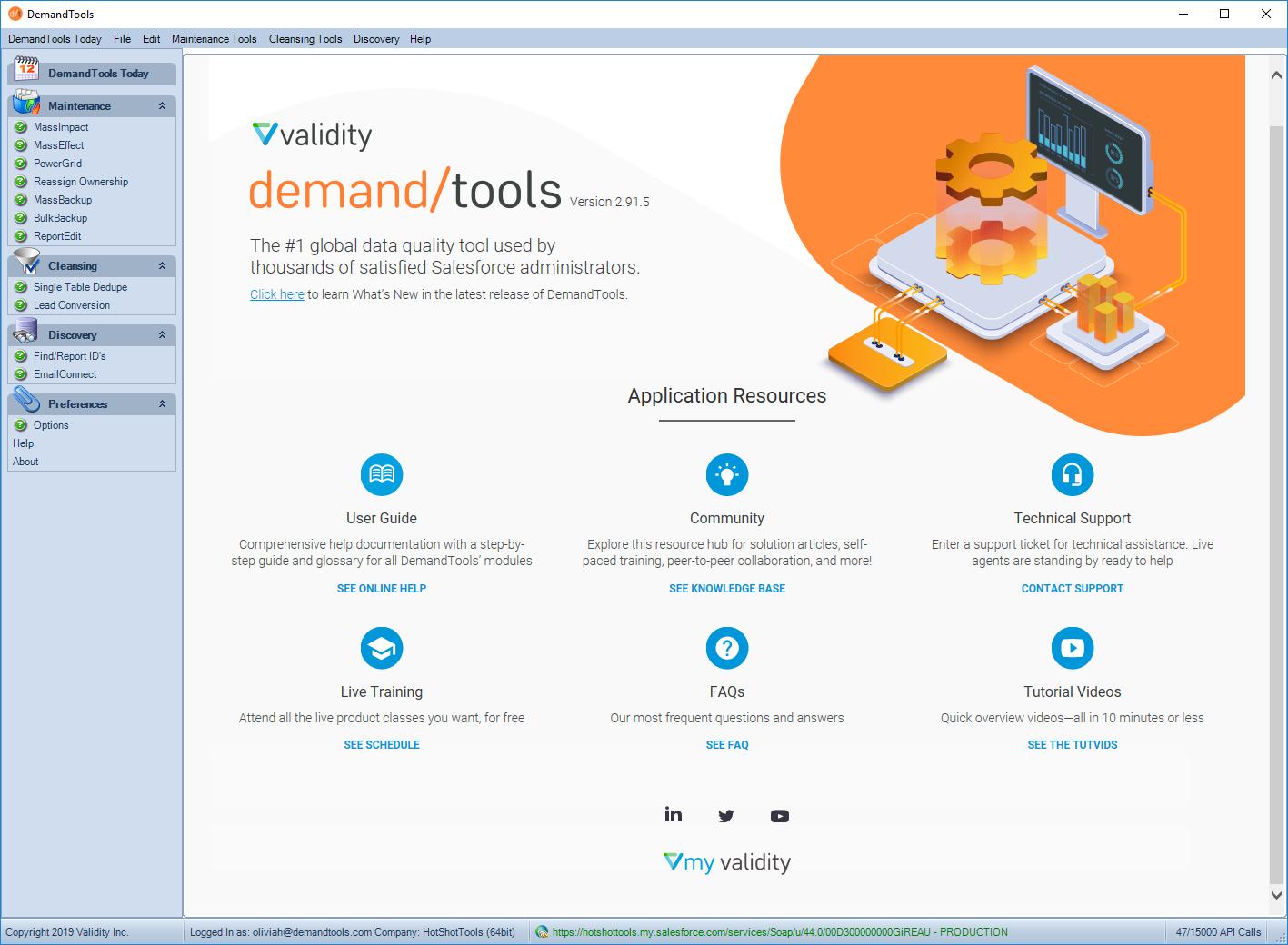 DemandTools Demo - Validity DemandTools
