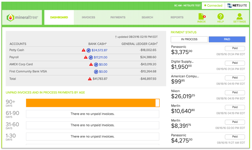 MineralTree Demo - MineralTree Invoice-to-Pay Process