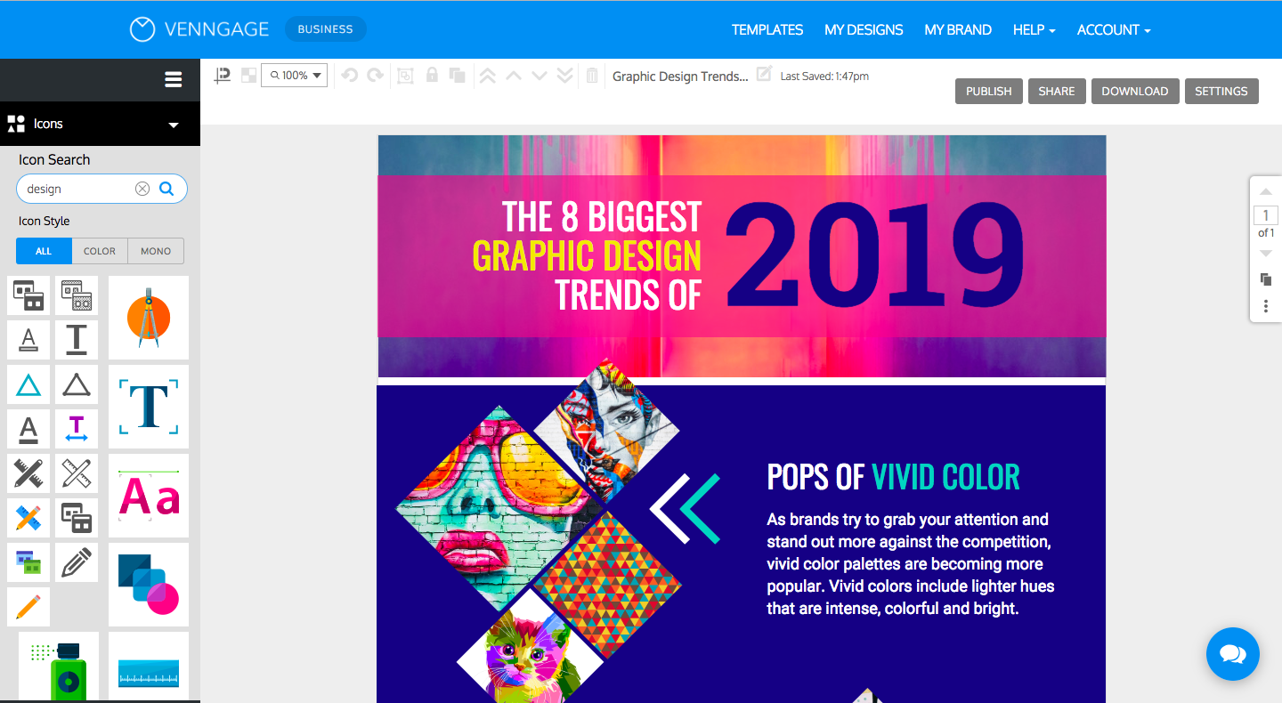 Venngage Reviews 2019: Details, Pricing, & Features | G2