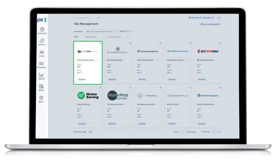 PX Demo - 2. Site Management