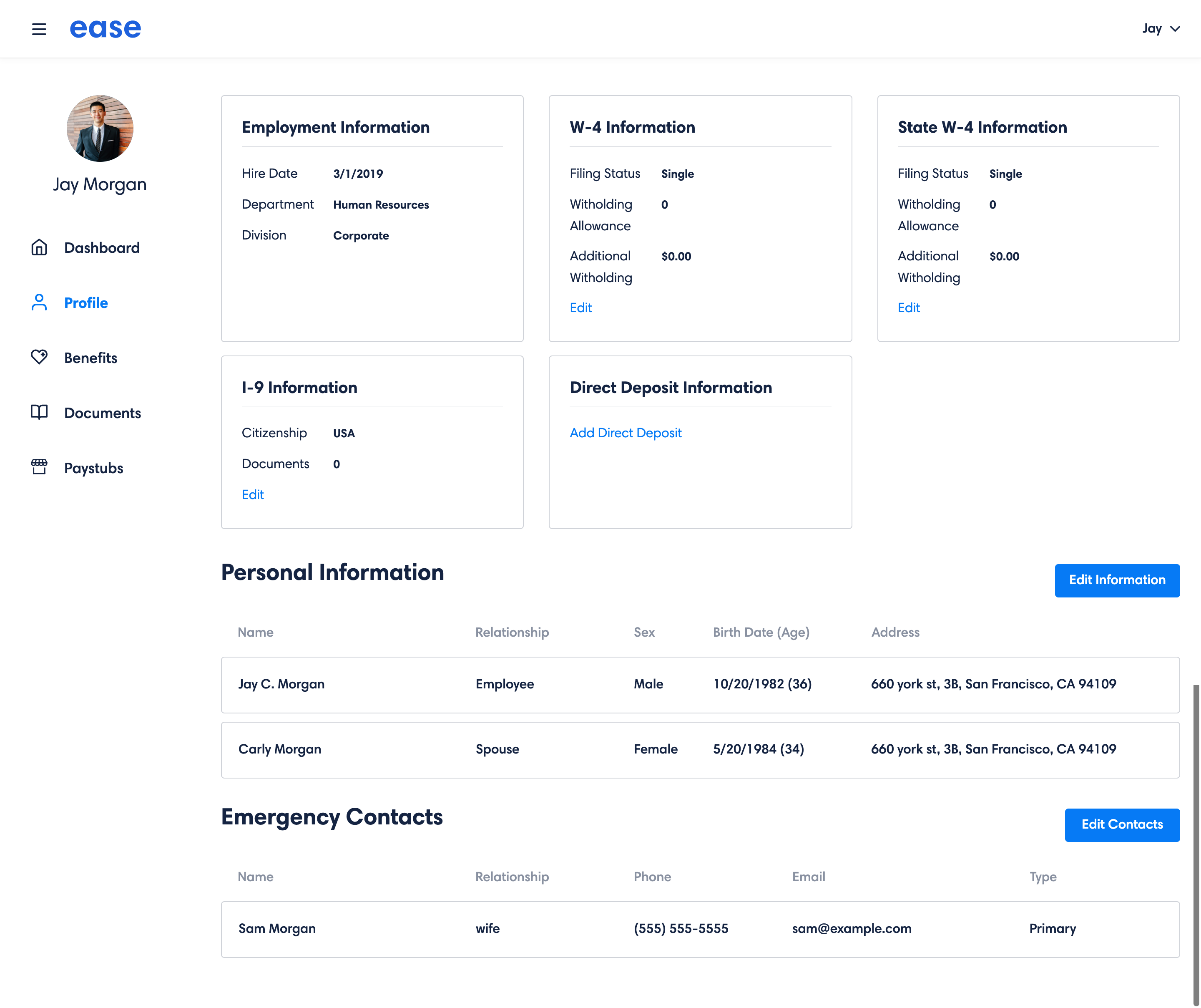 Ease Demo - 5. Employee Profile for Owners and HR Admins