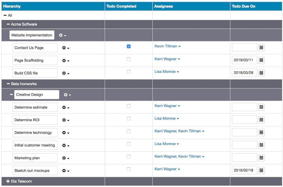 Easy Insight Demo - Two way reports