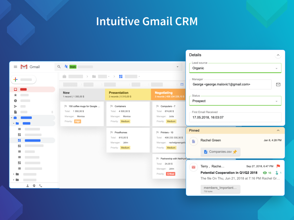 NetHunt CRM Demo - Intuitive Gmail CRM