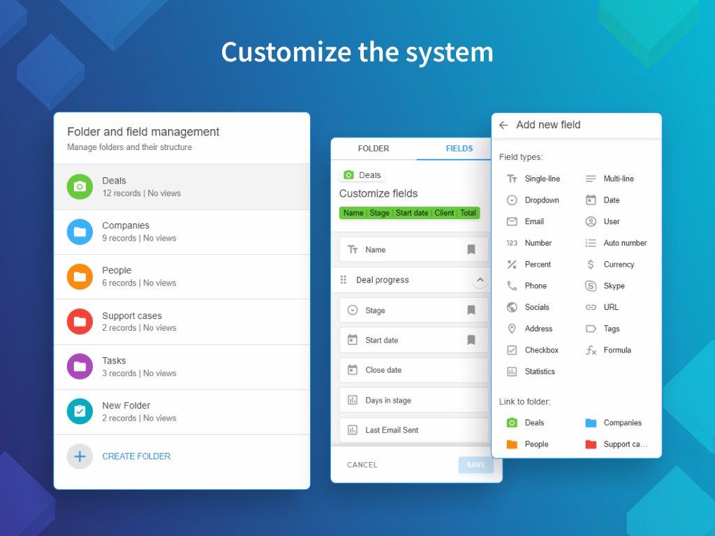 NetHunt CRM Demo - Customize everything to your needs