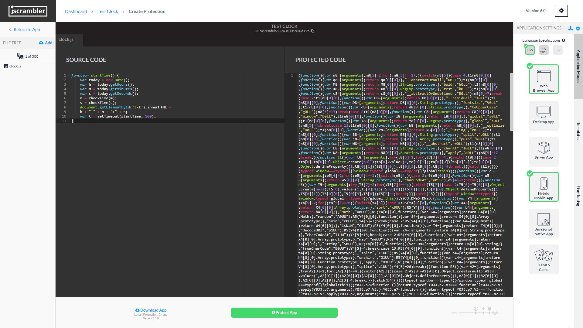 Jscrambler Demo - Jscrambler Code Protection Builder