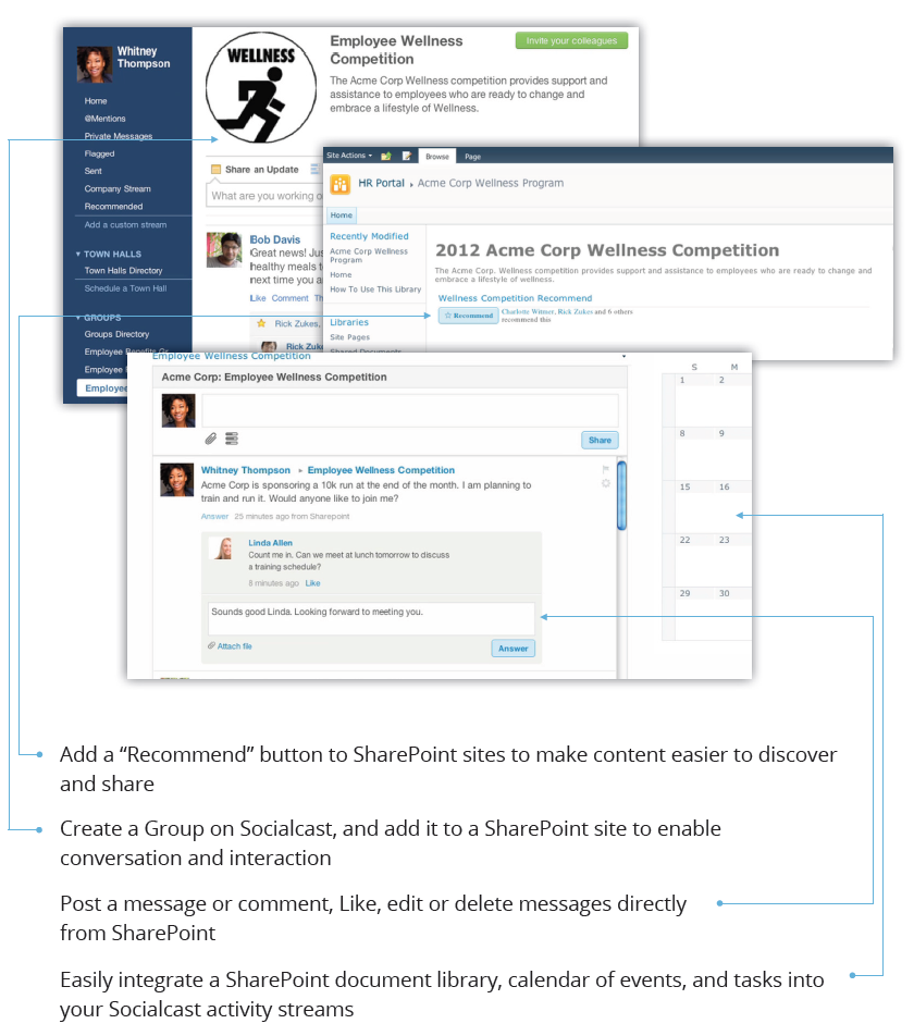 Socialcast Demo - Improving SharePoint with Socialcast