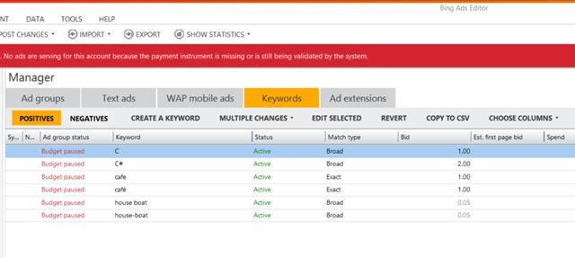 Bing Ads Demo -