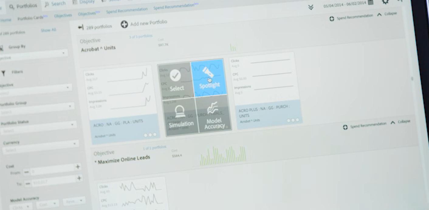 Adobe Media Optimizer Demo - Portfolio Analysis