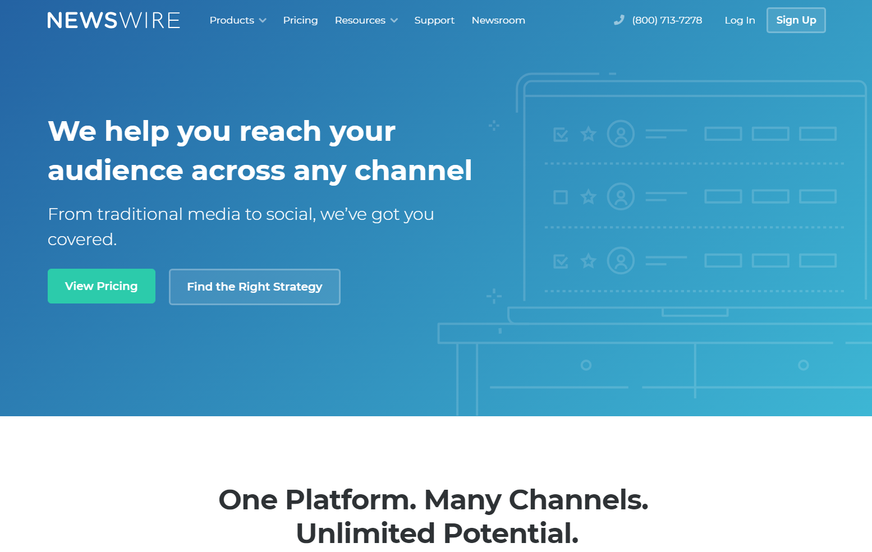 Newswire Demo - Newswire PR and Marketing Cloud Platform