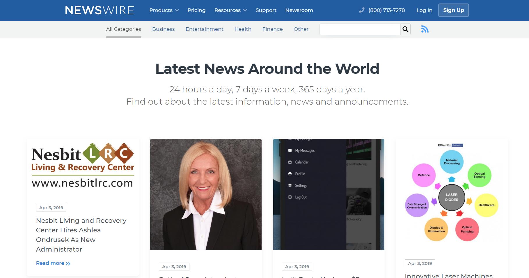 Newswire Demo - The Latest News Around the World