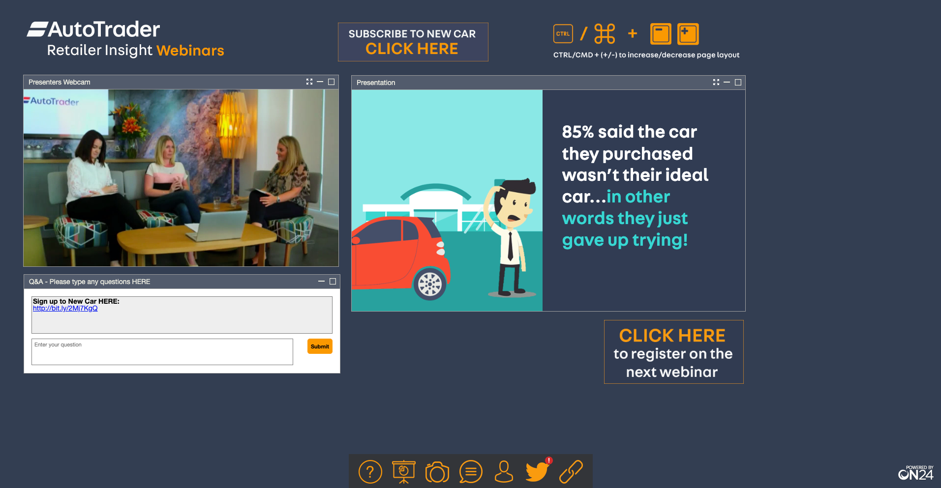 ON24 Demo - Autotrader UK webinar powered by ON24