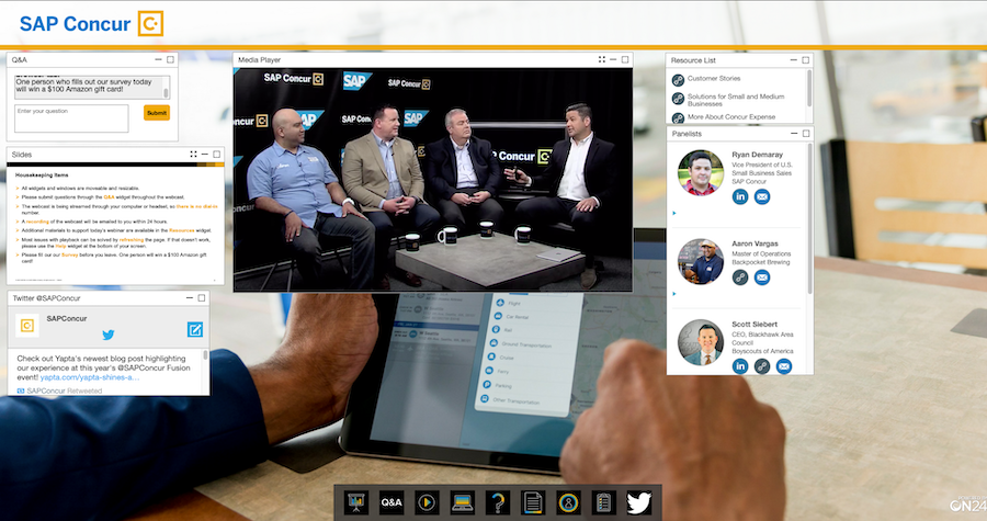 ON24 Demo - SAP Concur webinar powered by ON24
