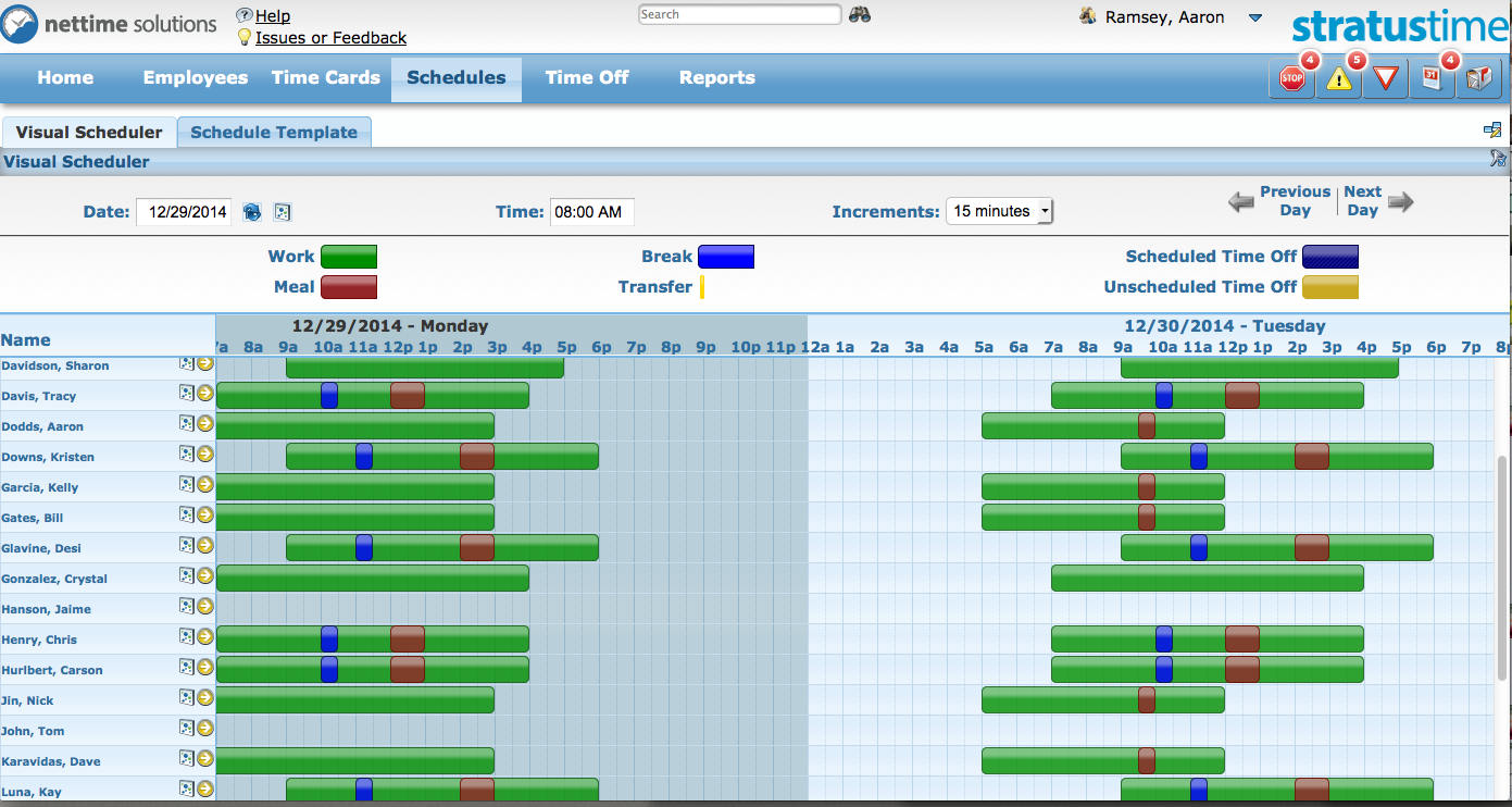 stratustime Demo - Employee Scheduler - Manager