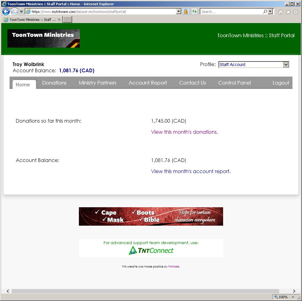 DonorHub Demo - Staff Portal