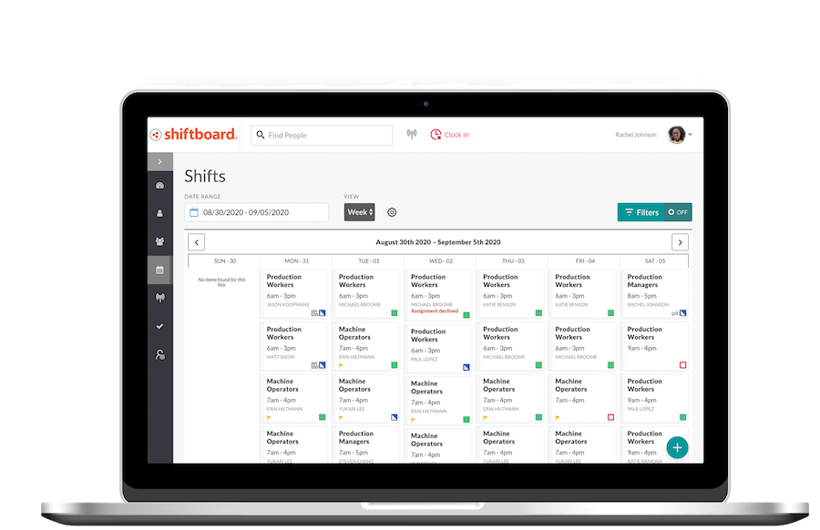 Shiftboard Demo - Create Schedules