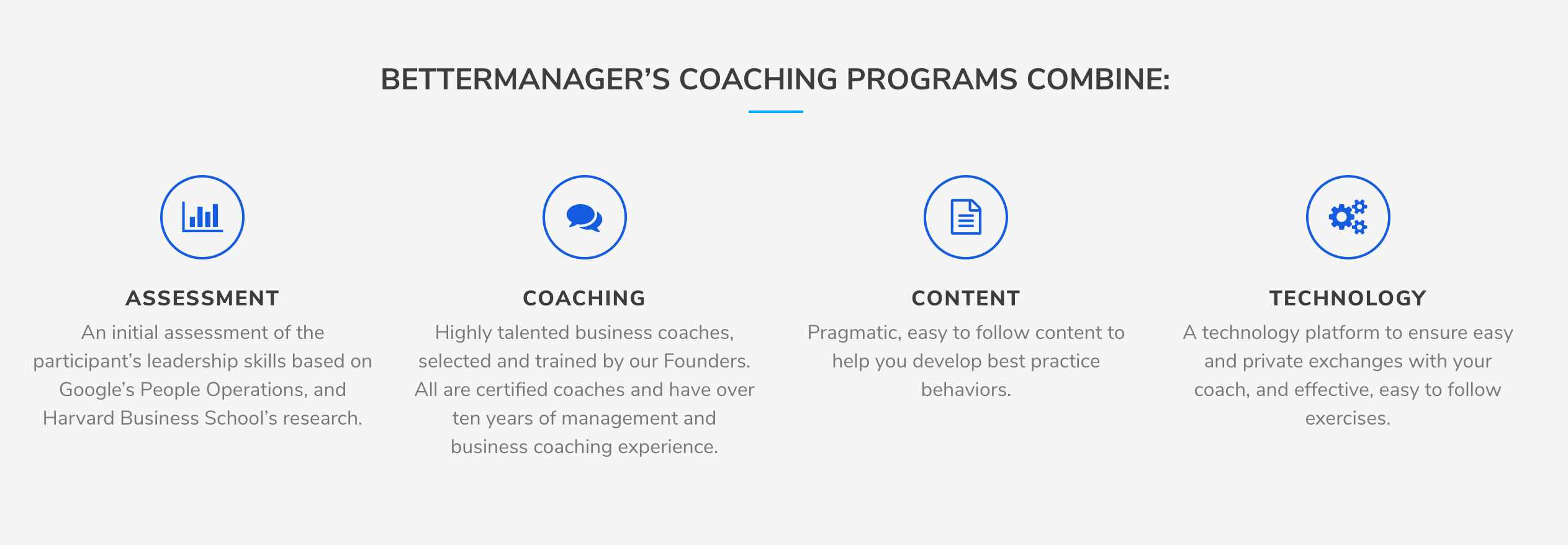 BetterManager Demo - Coaching Programs
