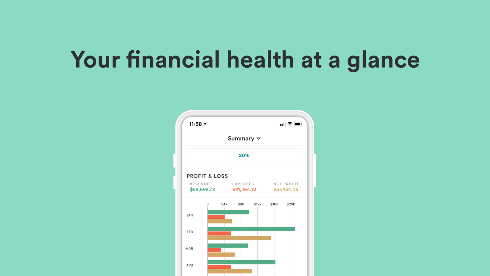 Bench Demo - Your financial health at a glance