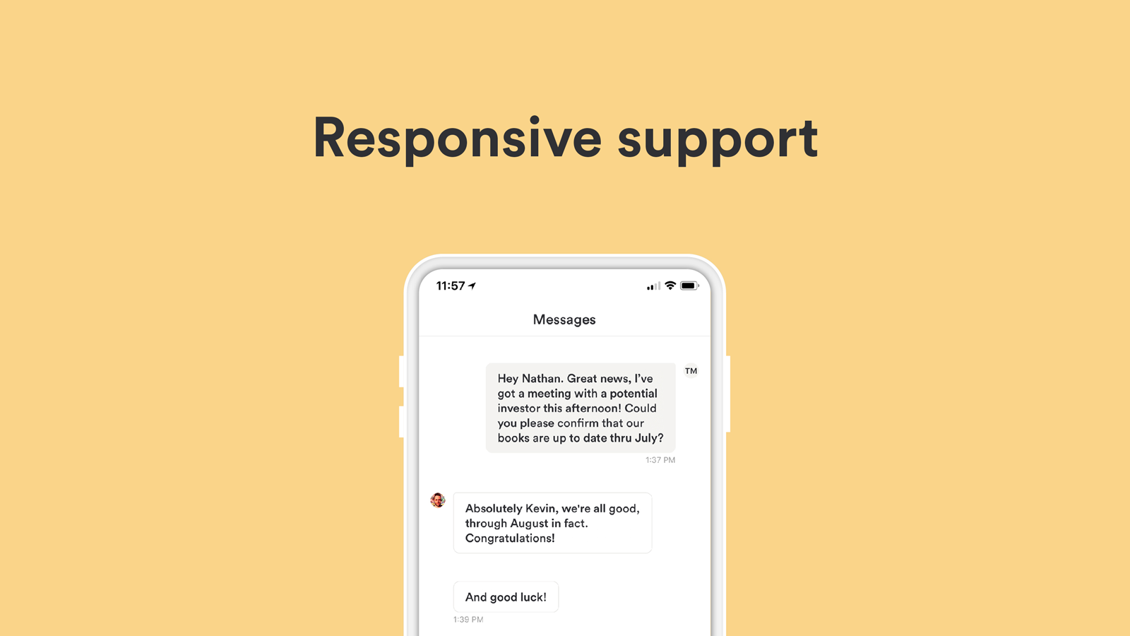 Bench Demo - Responsive Support