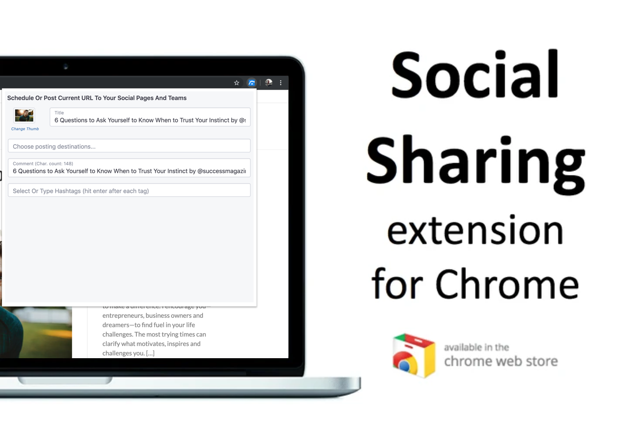 VipeCloud Demo - Social Sharing Extension Ror Chrome