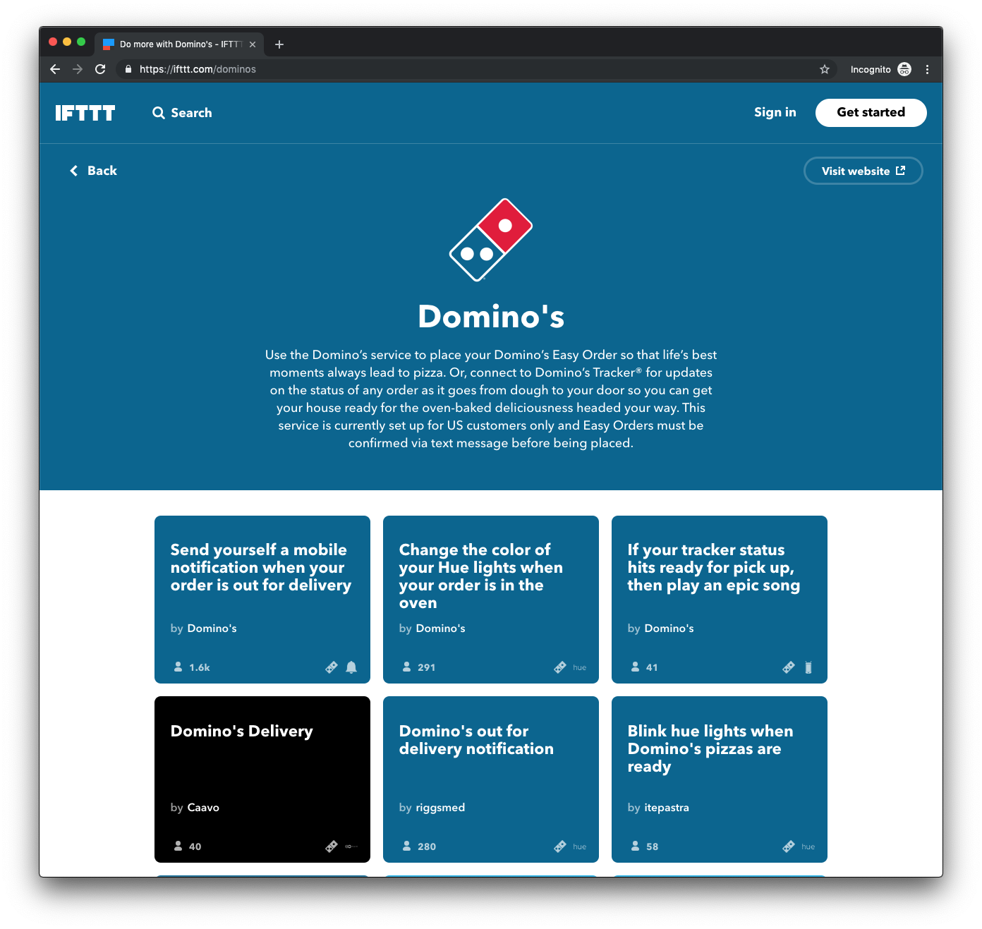 IFTTT Demo - Domino's on IFTTT