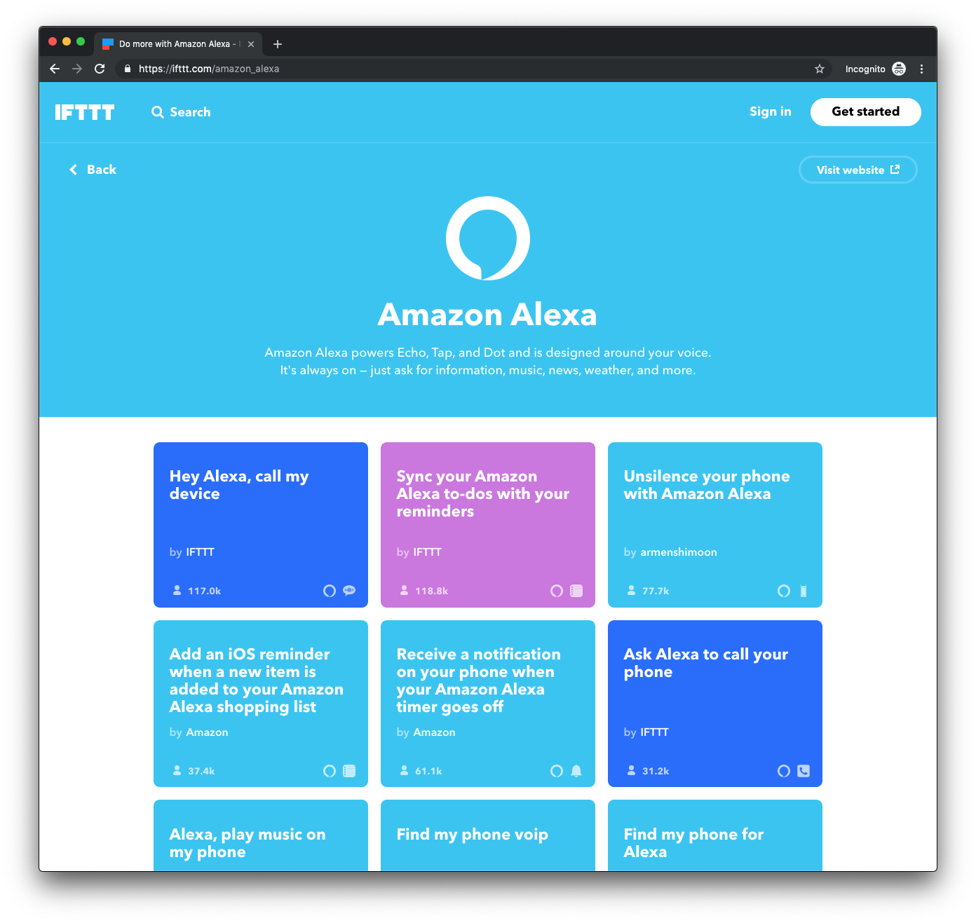 IFTTT Demo - Amazon Alexa on IFTTT