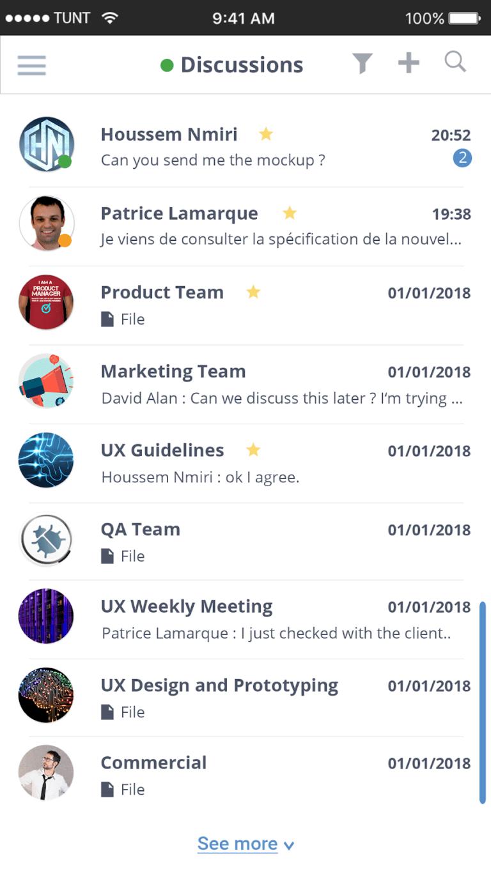 eXo Platform Demo - mobile chat