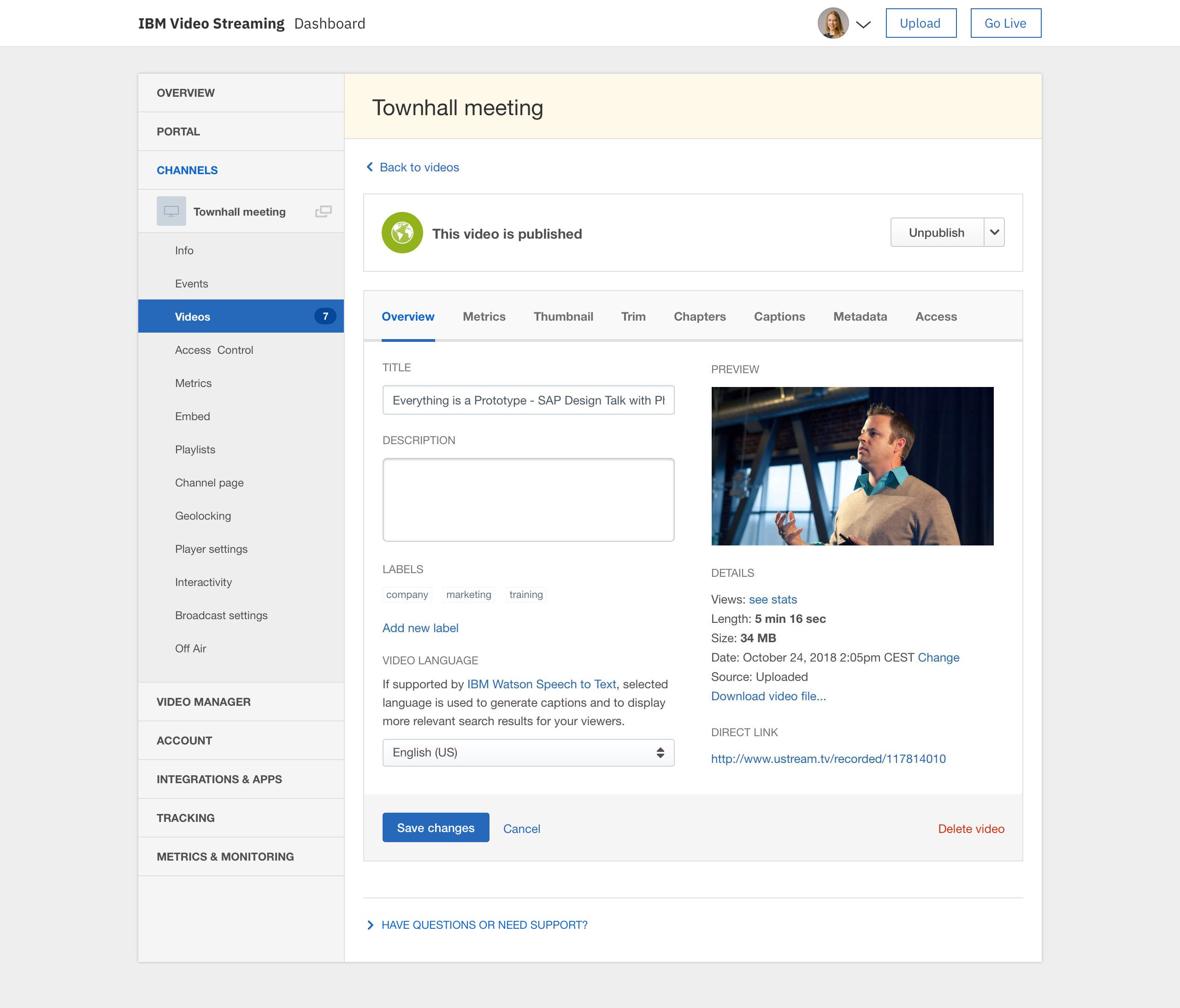IBM Enterprise Video Streaming Reviews 2019: Details