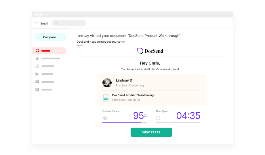DocSend Demo - Real-Time visit notifications