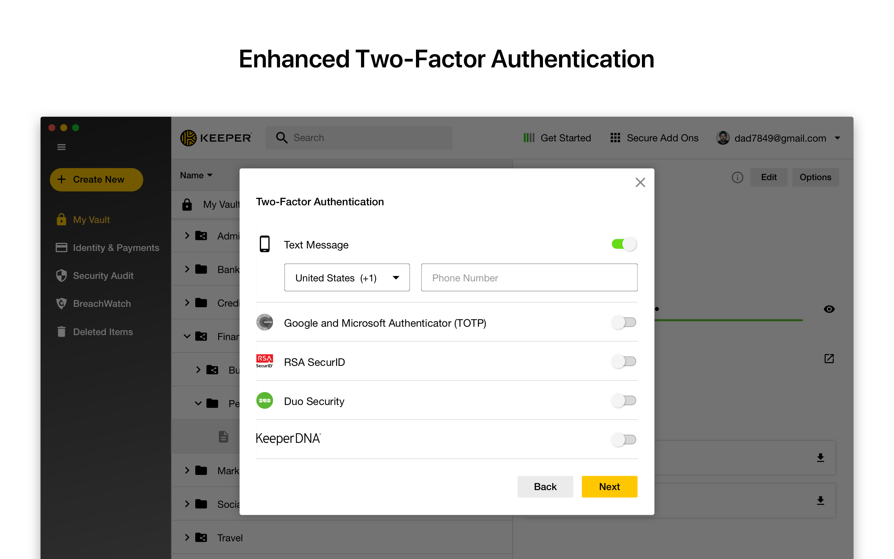 Keeper Demo - Enhanced Two-Factor Authentication