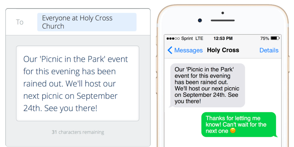 Flocknote Demo - Send quick text messages