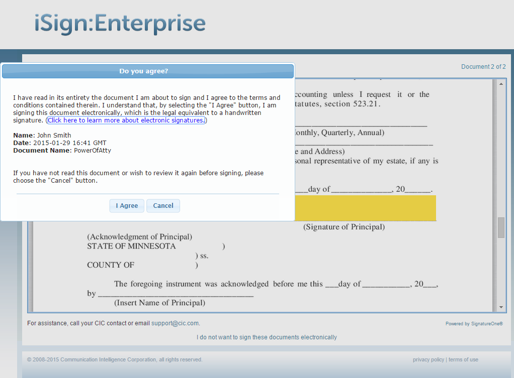 iSign Demo - iSign® Console™ - Signing
