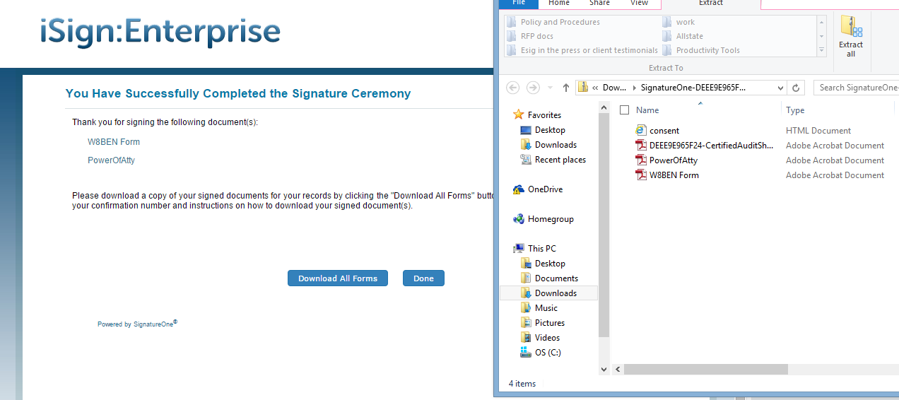 iSign Demo - iSign® Console™ - Download Forms