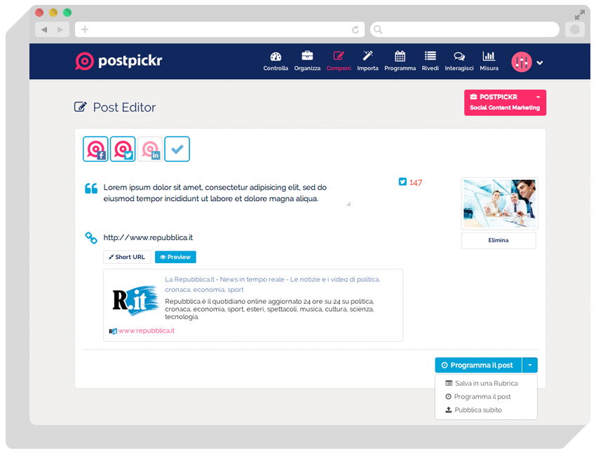 PostPickr Demo - Post Editor