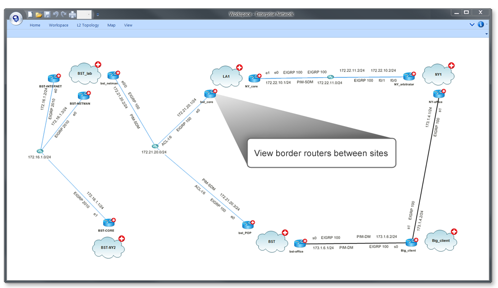 NetBrain Enterprise Suite Demo - Visualize Physical Relationships Between Sites