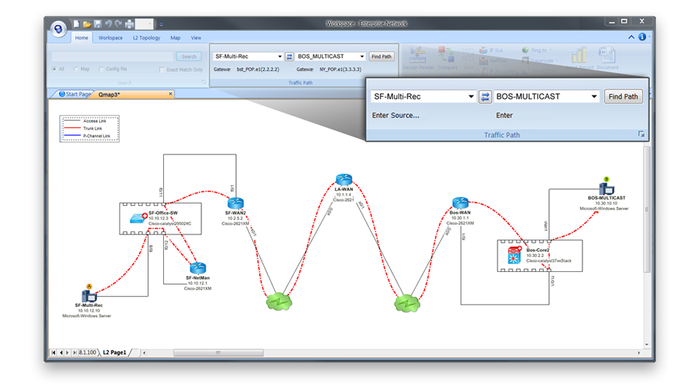NetBrain Enterprise Suite Demo - Instantly Map the Problem Area