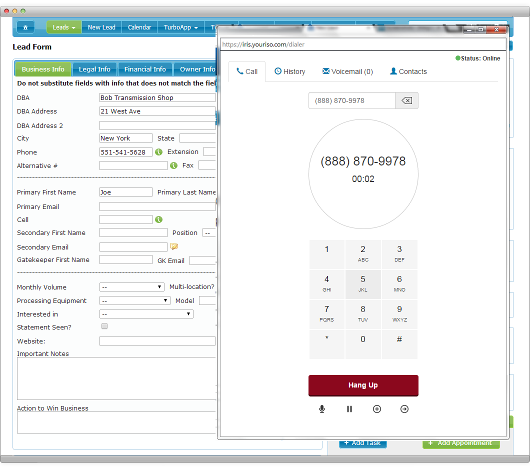 IRIS CRM Demo - Contact more prospects.