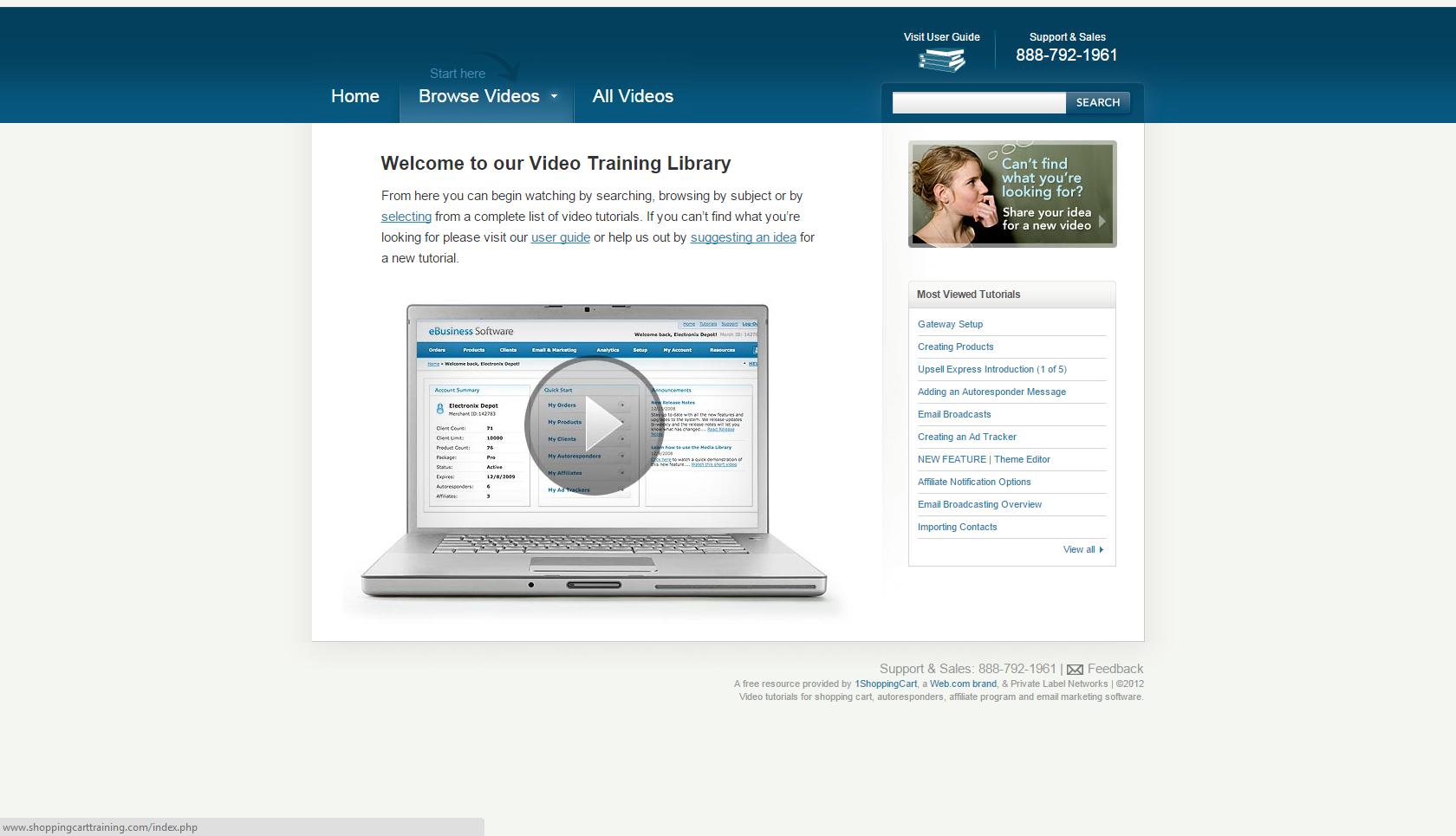 1ShoppingCart Demo - Training Videos