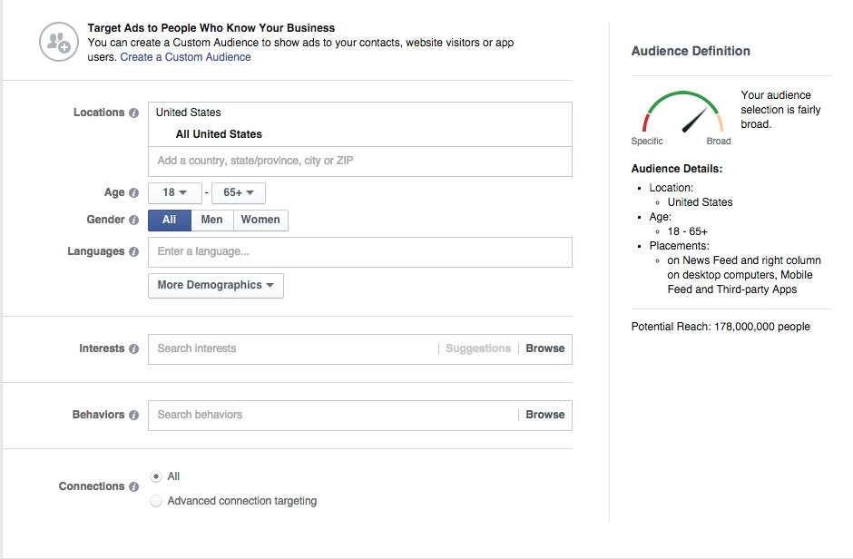 Facebook for Business Demo -