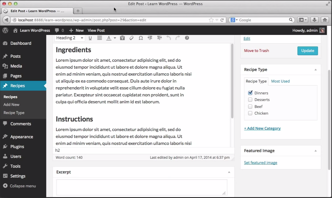 WordPress.org Demo -