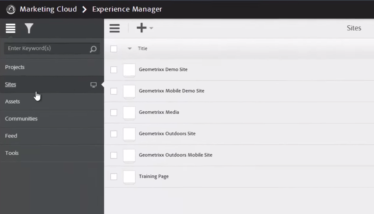 Adobe Experience Manager Demo -