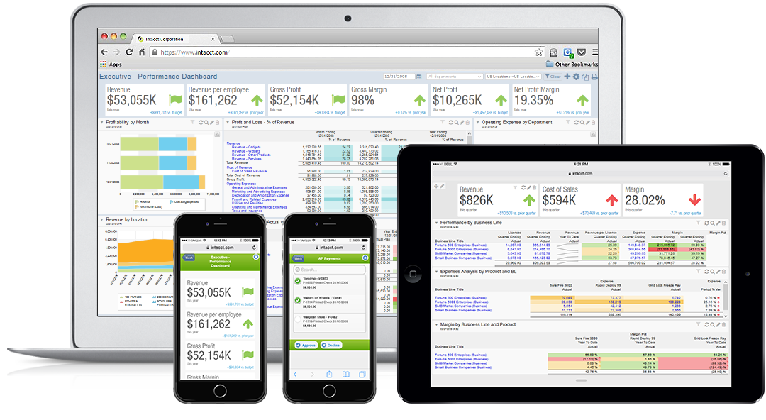Sage Intacct Demo - Any Device, Anytime