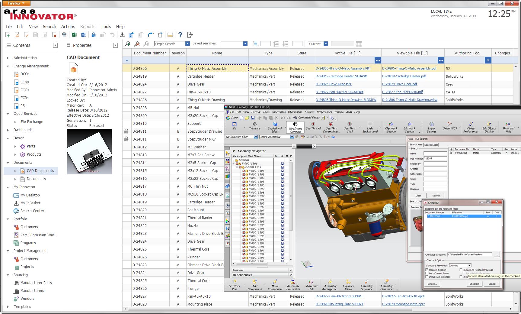 Aras PLM Demo - Multi-CAD Integrations