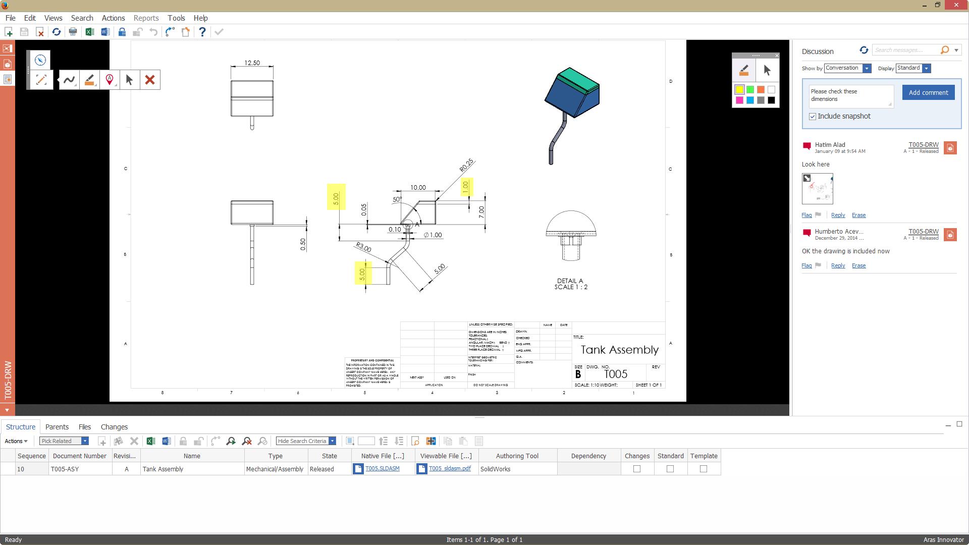 Aras PLM Demo - Visual Collaboration
