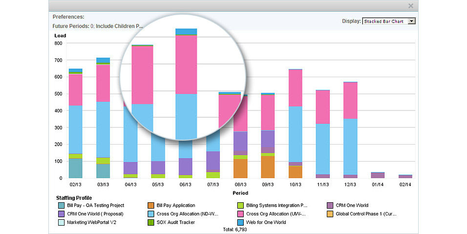MicroFocus PPM Demo - Graphical Data