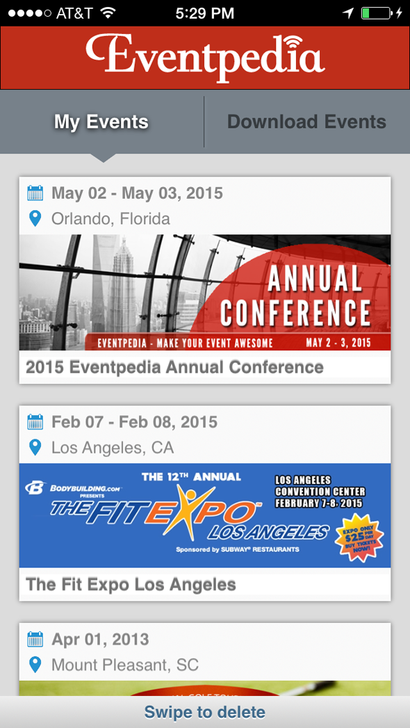Eventpedia Demo - Multi-events in one app