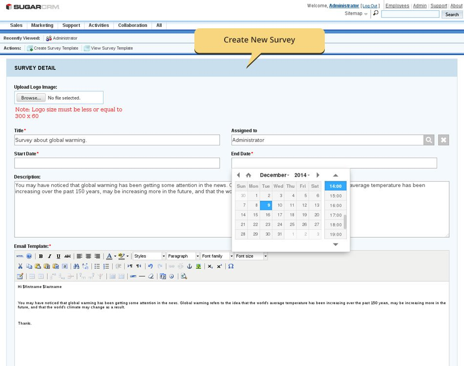 SugarCRM Survey Rocket Demo - SugarCRM/SuiteCRM Customer Survey Plugin