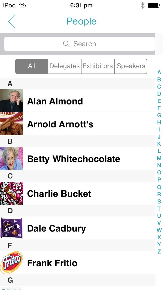 ShowGizmo Demo - Event App screenshot